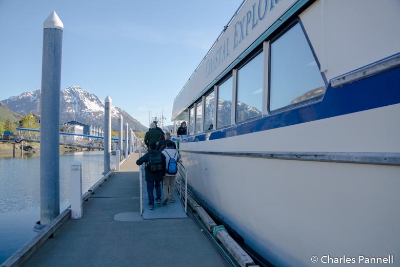 Boarding the Coastal Explorer