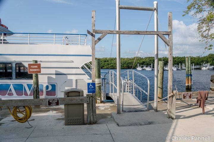 Boarding ramp for the Spirit of Pennekamp