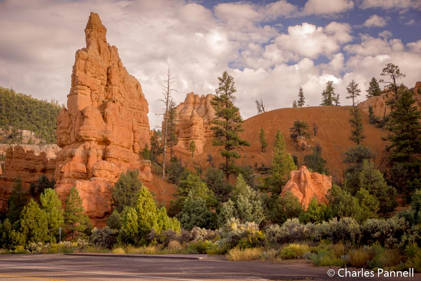 Roadside pullout in Red Canyon