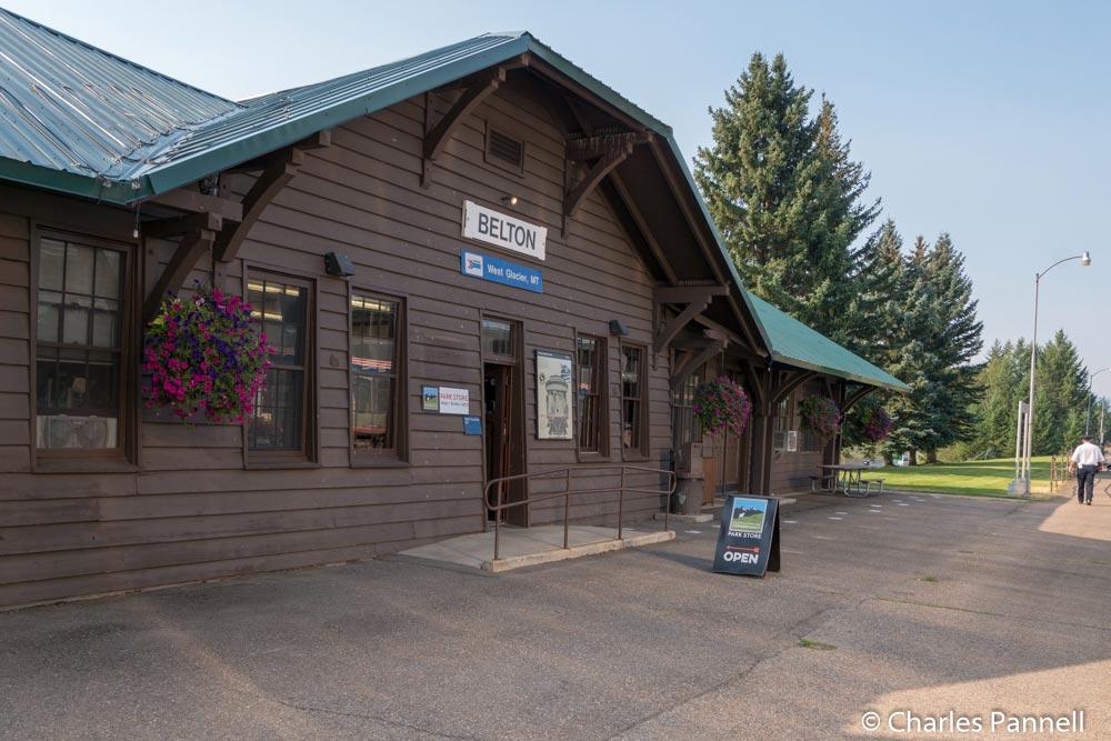 Amtrak station at the west entrance to Glacier National Park