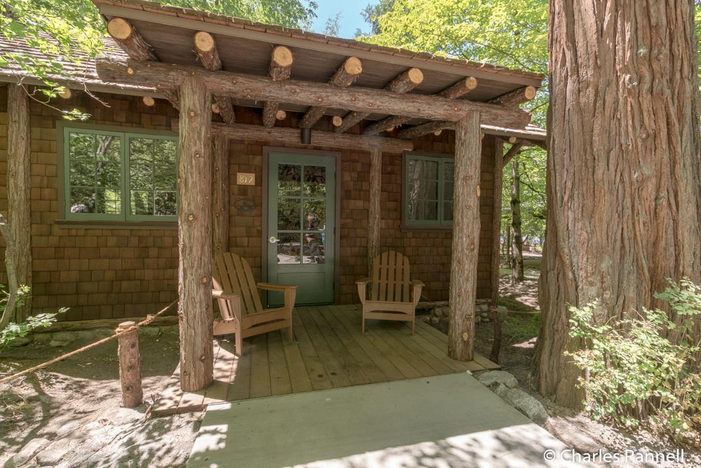 The newly renovated Mother Curry's Cabin in Yosemite National Park