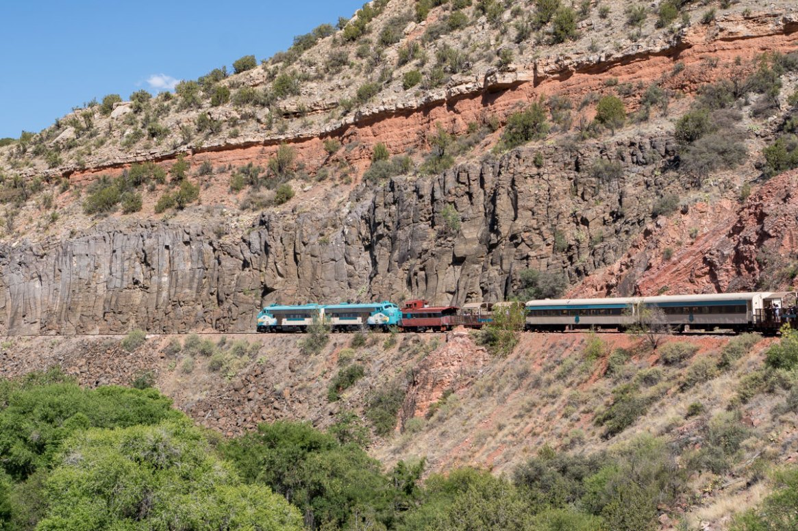 Take a ride on the nicely accessible Verde Canyon Railroad