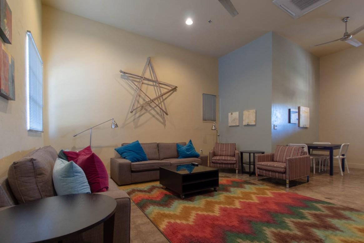 The lounge at the Sonoran Desert Inn