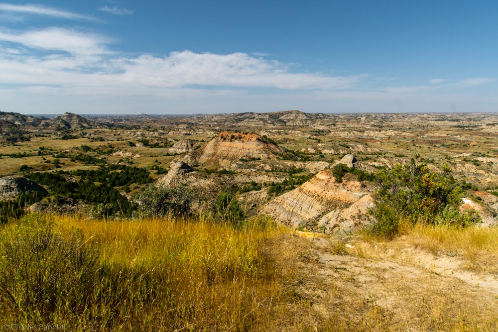 View of Painted Canyon in Theodore Roosevelt National Park