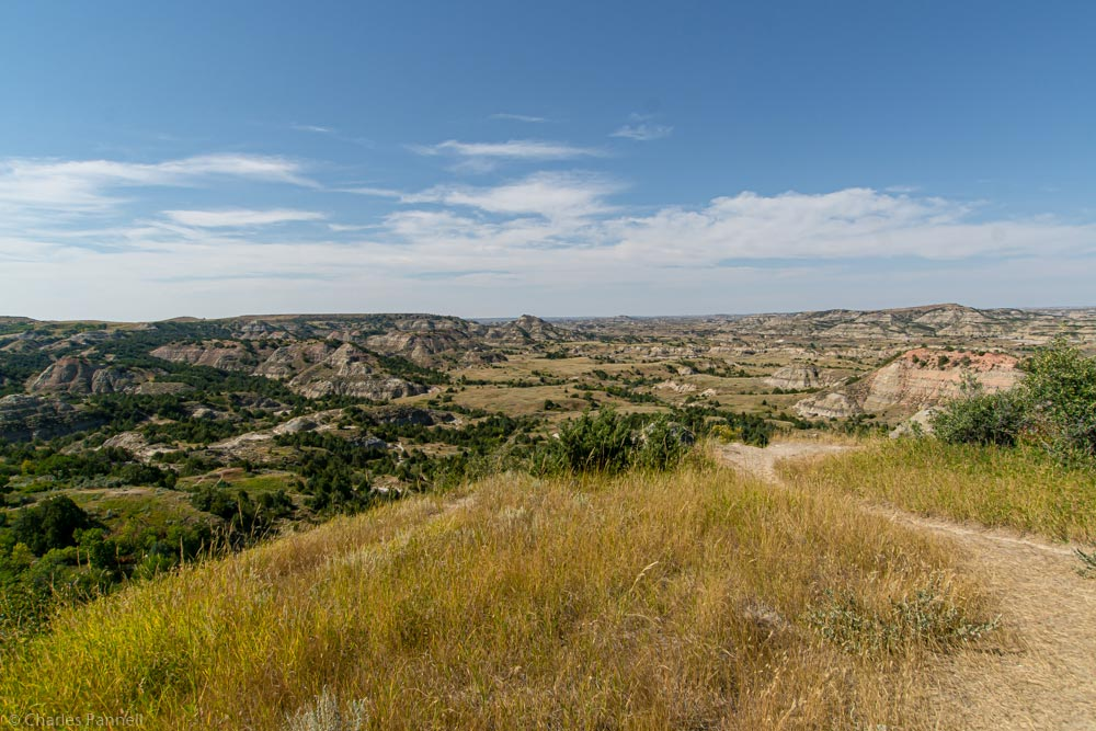 View of Skyline Vista trail in Theodore Roosevelt National Park