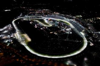 Daytona International Speedway Aerial Night Shot - Lamborghini Squadra Corse