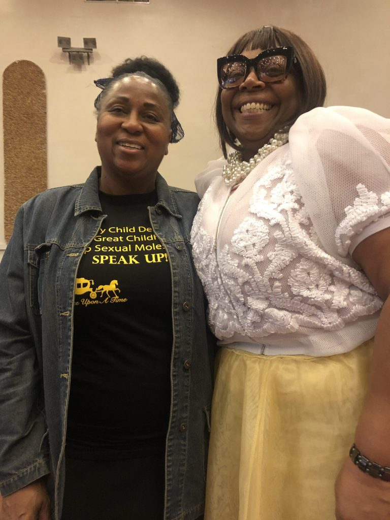 "Glenda Reed, founder of ""Once Upon A Time"" with Crystal Sanford Brown"