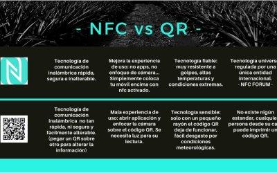 Diferencia entre NFC vs QR: NFC WINS!!!