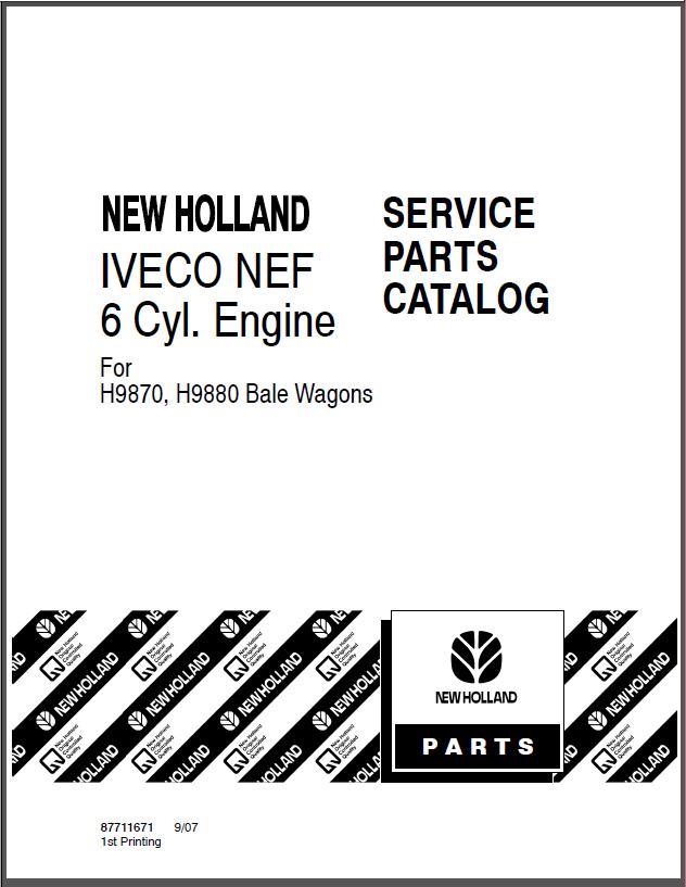 Service Parts Catalog IVECO 6 Cylinder Diesel Engine