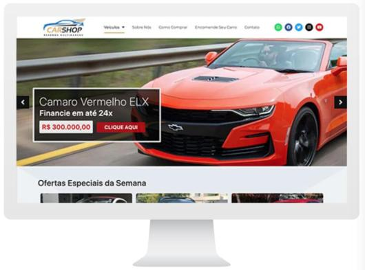 Foto do site CarShop