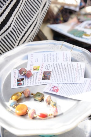 Info leaflets on Sweet Things' Trades of Hope.