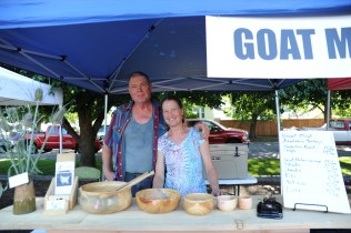 Sunny and Jim at the JJ Goats booth.