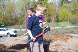 Volunteers of all ages came to help.