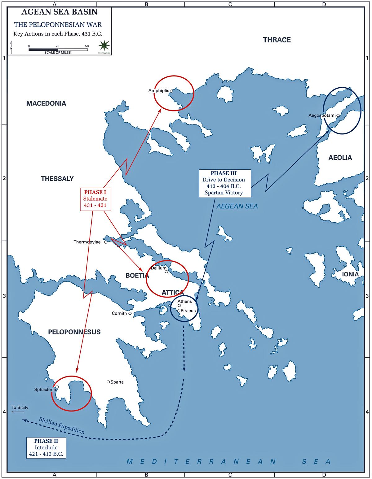 Aegean Sea On World Map : aegean, world, Peloponnesian, 431-404