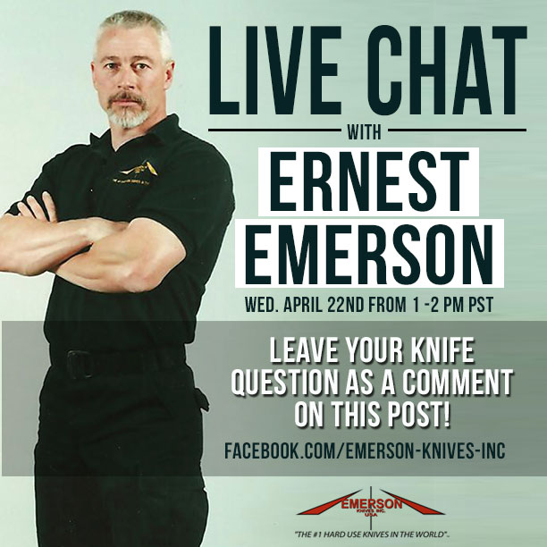 Chat Live with Ernest Emerson on Facebook
