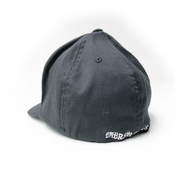 3d skull hat black