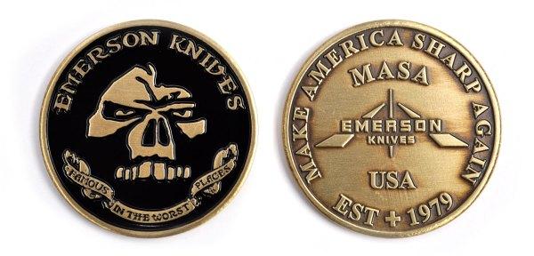 Emerson Knives MASA Challenge Coin