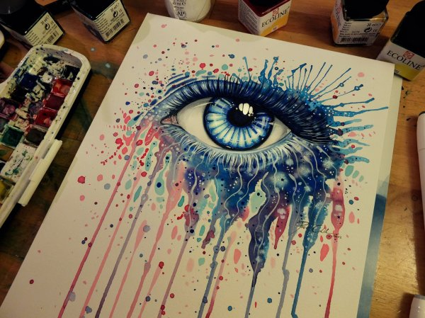 Eye Melted Crayon Art