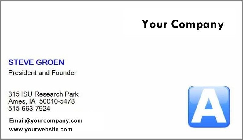 libreoffice business card template