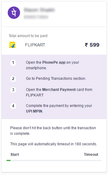 PhonePe on Flipkart