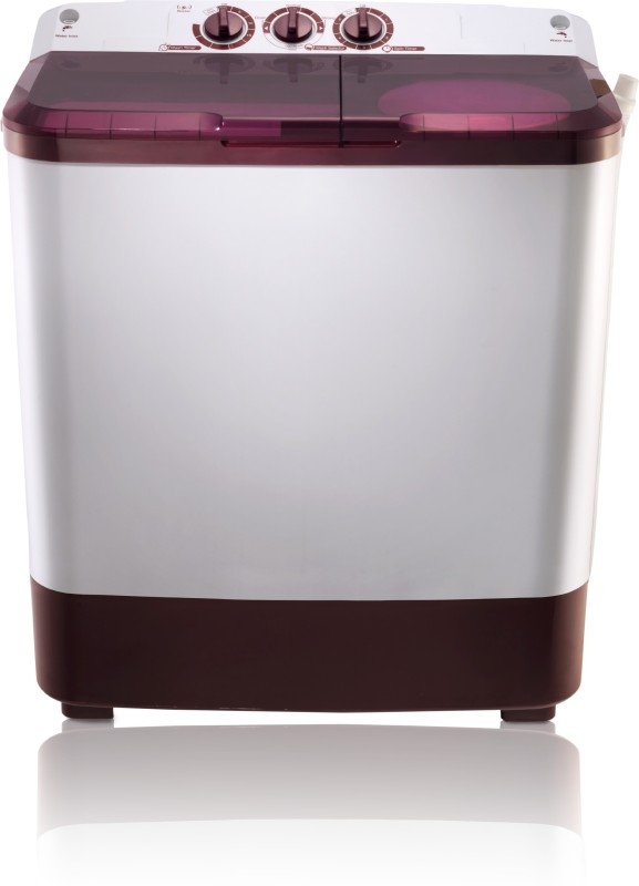 MarQ by Flipkart 6.5 kg Semi Automatic Top Load Washing Machine Maroon, White(MQSA65)