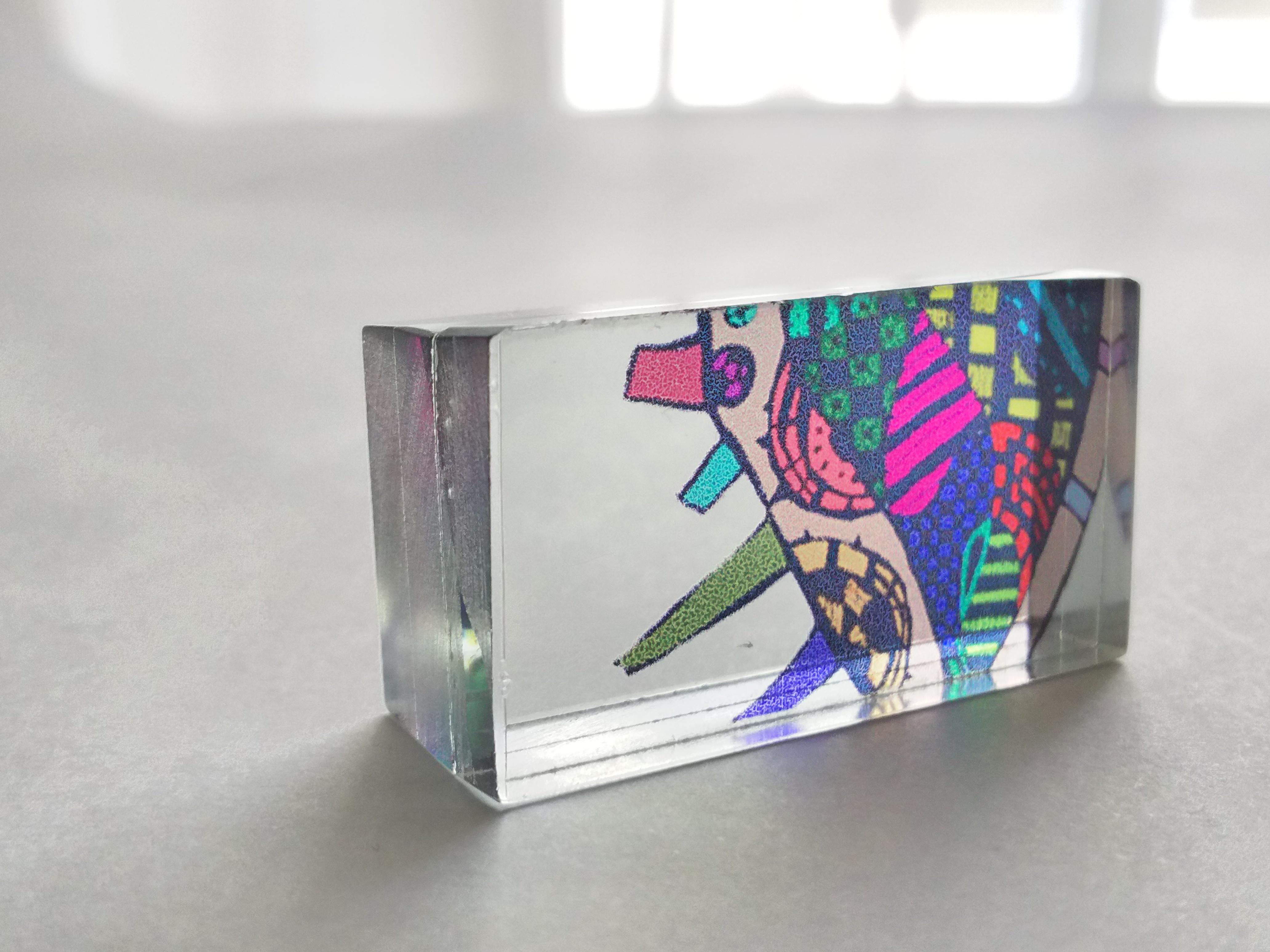 積層ガラスアート
