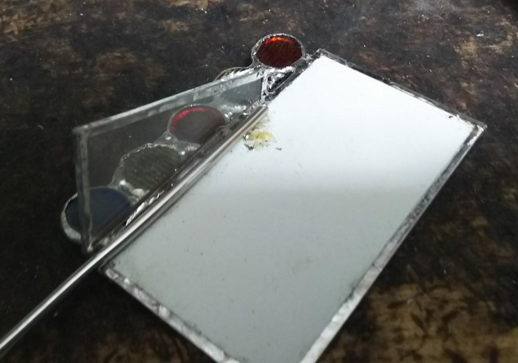 スタンド式鏡ステンドグラス作り方