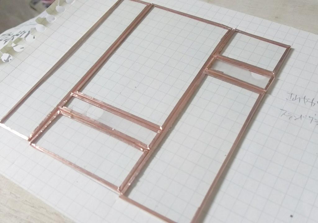 あっさりステンドグラスパネル作り方手順