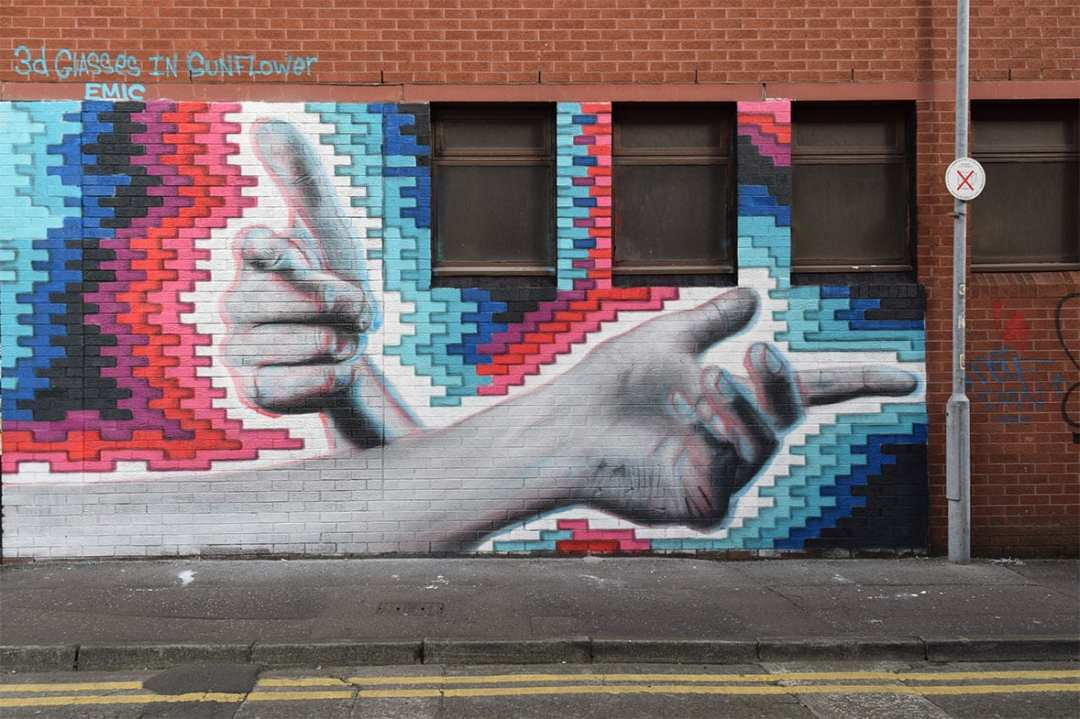 Belfast street art by emic