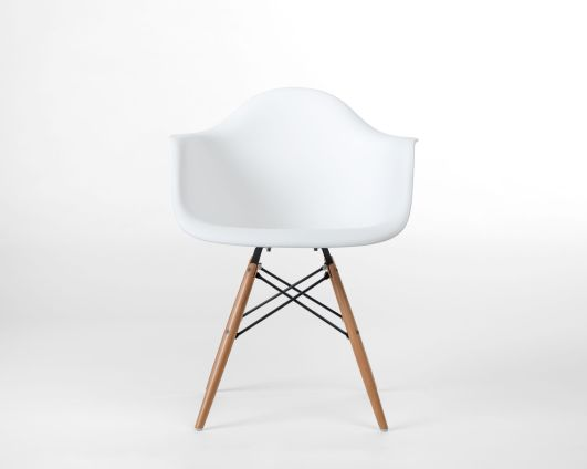 Modway Pyramid Dining Arm Chair in White