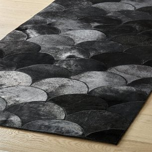 Scallop Black Hide Runner by CB2