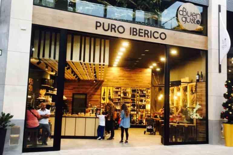 Emigreren Gran Canaria - Winkelcentrum Alisios op Gran Canaria - Winkelen tijdens kerst - Eten Puro Iberico