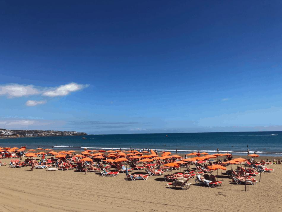 Emigreren Gran Canaria - Reisverslag Gran Canaria deel 3 - Las Palmas & Playa del Inglés - Strand Playa del Ingles