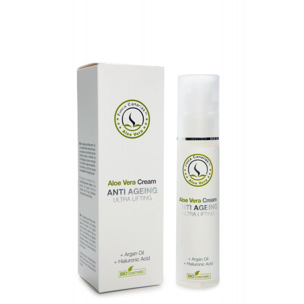 Aloe Vera Anti Age creme met Aloe Vera uit de Canarische Eilanden Voorkant