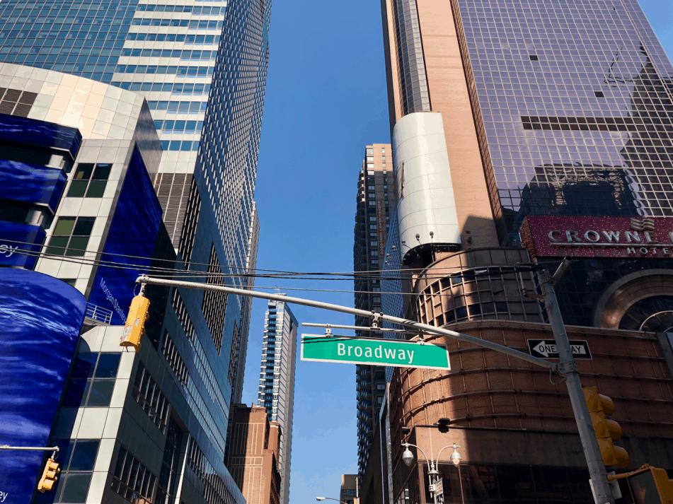 Emigreren Gran Canaria - Reisverslag - Hoogtepunten van NYC - Amerika reis deel 3 - Broadway sign