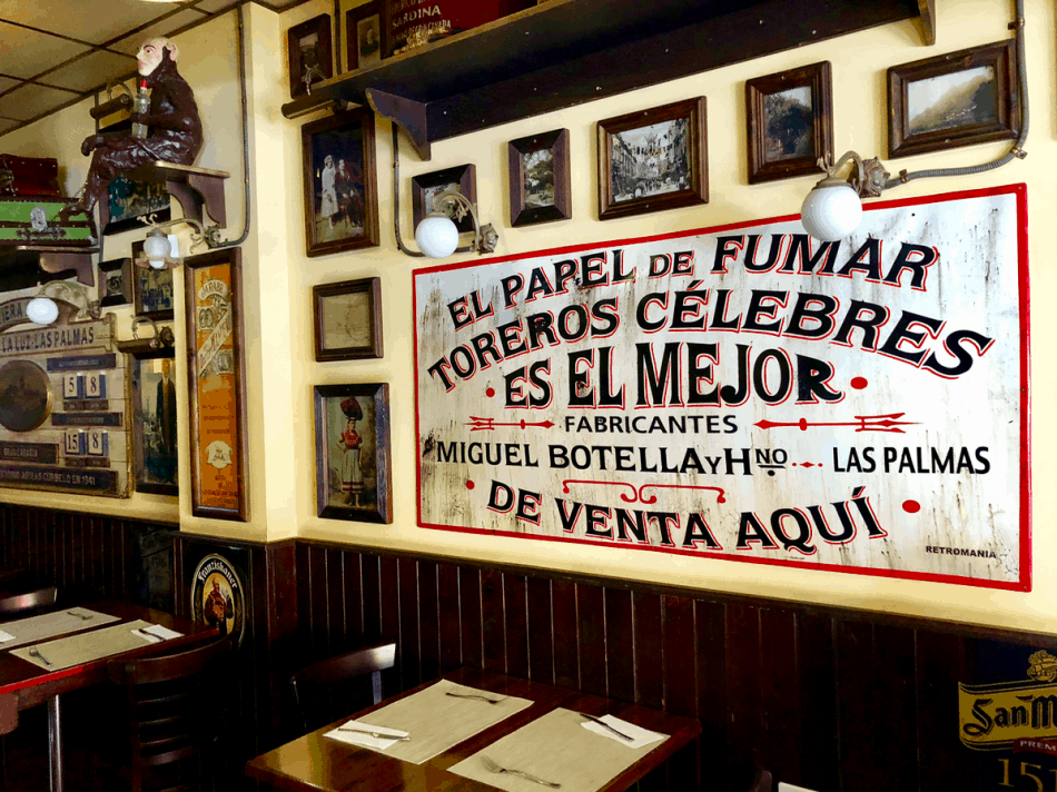 Emigreren Gran Canaria - Restaurant review - Tapas eten bij El Picoteo in San Fernando - Inrichting El Picoteo