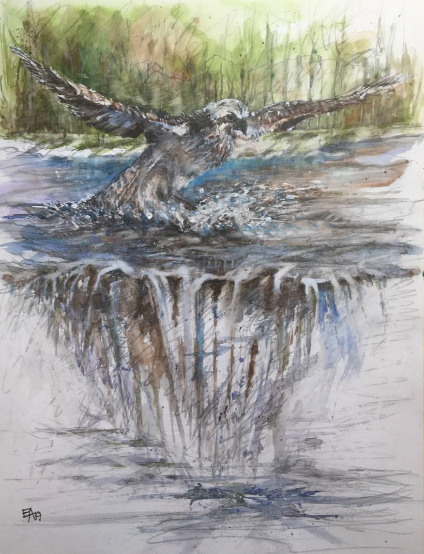 La cascade du chasseur- dim. 47x62cm