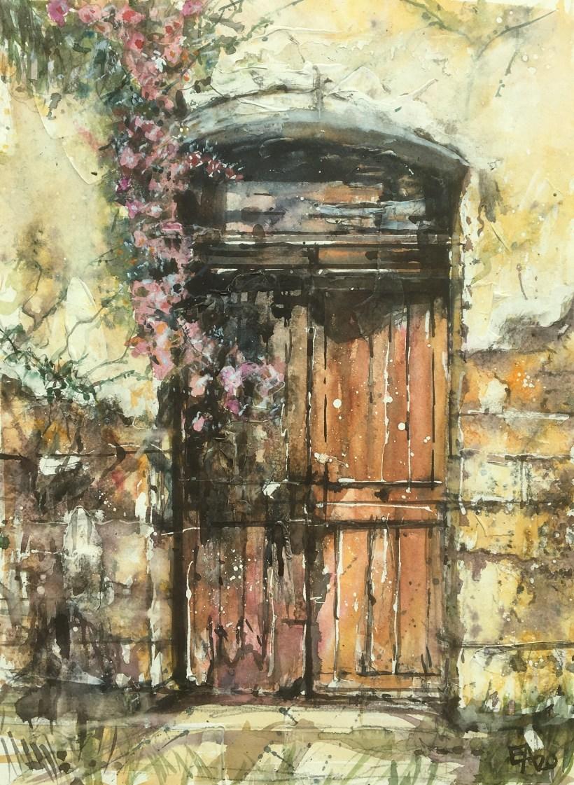 La vieille porte-dim. 34x46cm