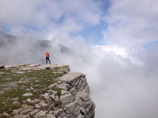 Andreea Mihai pe munte