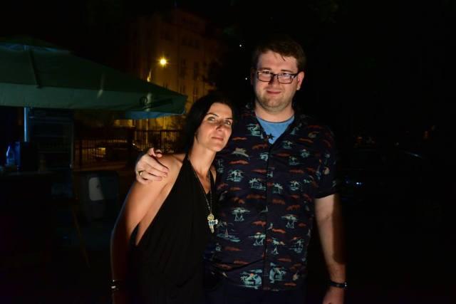 Alaturi de Chris Simion la petrecerea de final de la UnderCloud. Mda, nici de data asta nu-s elegant.