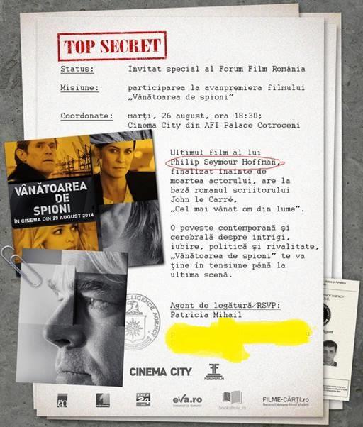 Invitatie Vanatoarea de spioni