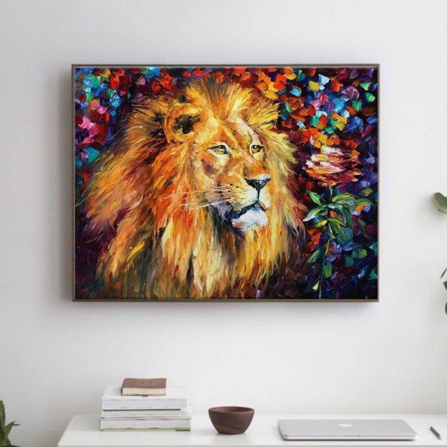 beautiful-lion-pictura-pe-numere