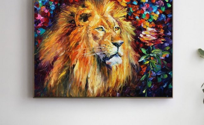 beautiful-lion-pictura-pe-numere