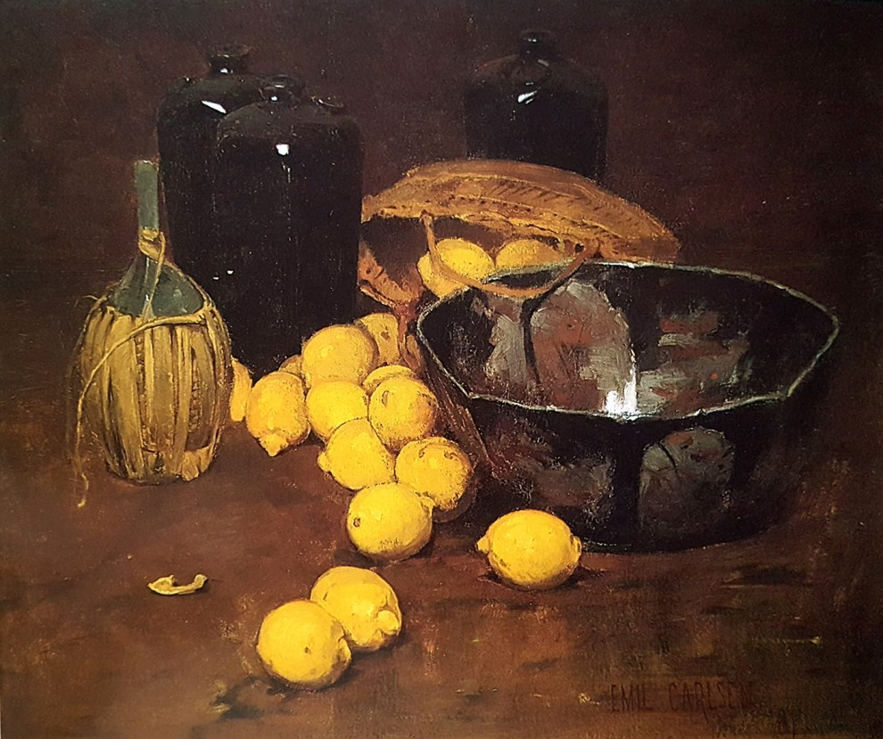Emil Carlsen : Still life with lemons, 1881.