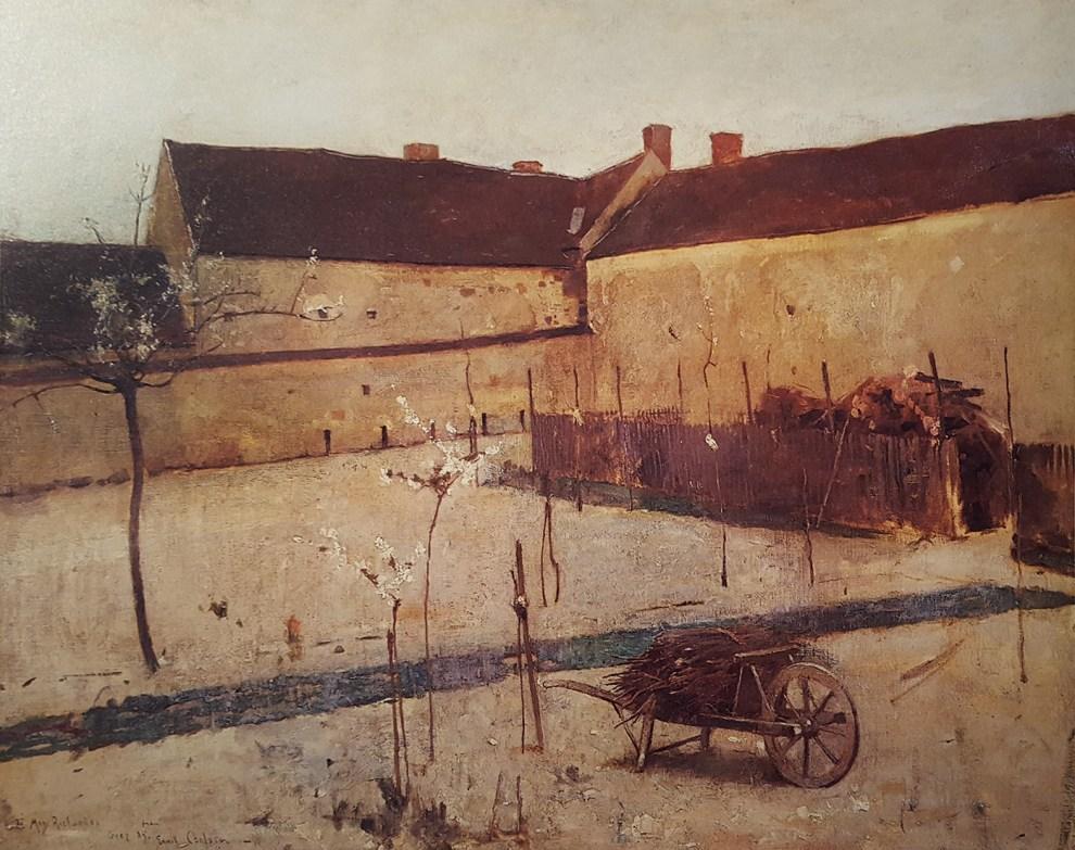 Emil Carlsen : Courtyard at Grez, France, 1885.