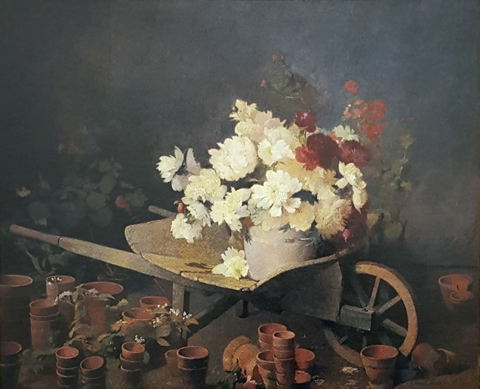 Wheelbarrow of Peonies (also called Wheelbarrow of Chrysanthemums), 1891
