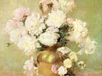 Emil Carlsen : Peonies, ca.1890.