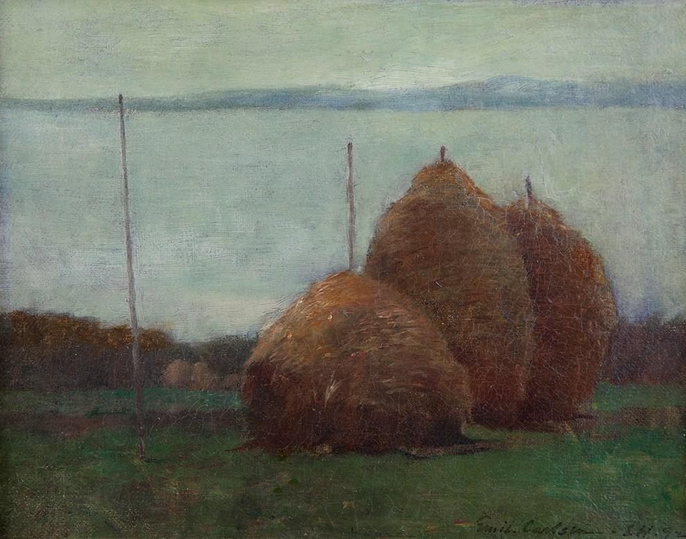 Emil Carlsen : Haystacks, 1892.