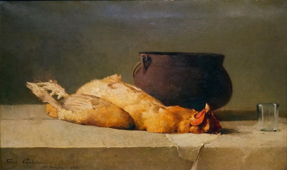 Emil Carlsen Still Life (with rooster, cauldron, and glass), 1892