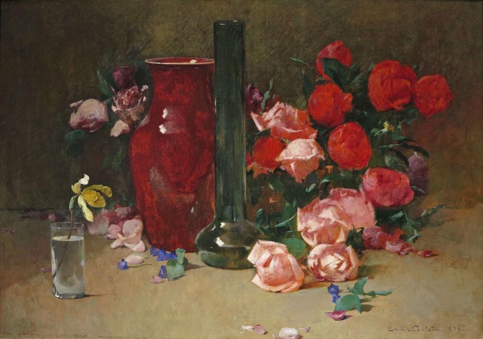 Emil Carlsen Roses and Vase, 1894